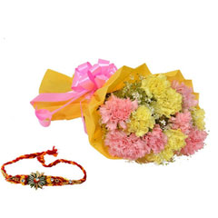 Yellow Carnation with Roses