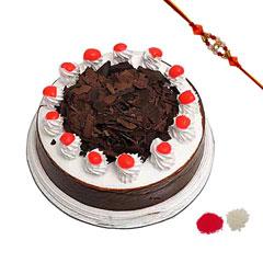 Rakhi with Blackforest Cake
