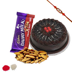 Rakhi with cake and chocolate /></a></div><div class=