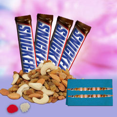 Rakhi with Snickers