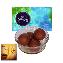 Diwali with Gulab Jamun and celebration