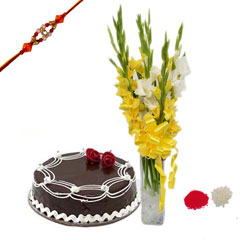 Rakhi with Glads and cake
