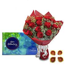 Rakhi with Roses and Celebration