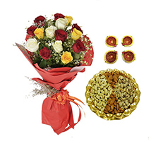 Diwali with Roses and Dryfruits