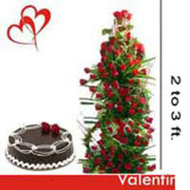 100 Roses Tower n Cake