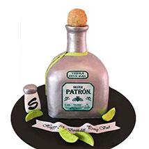 Delightful Silver Patron Cake 2kg