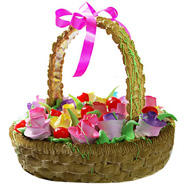 Basket Of Love Cake