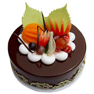 Fruit Chocolate Cake For Mumbai