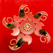 Peacock Acrylic Rangoli Sticker
