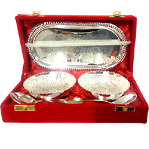 Exquisite Silver Bowl Set