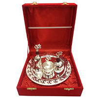 Beautiful Silver Puja Thali