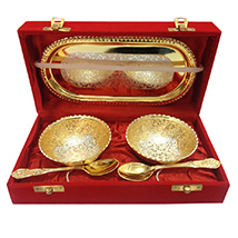 Golden Silver Bowl Set