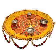 Decorative Ganesh Puja Thali