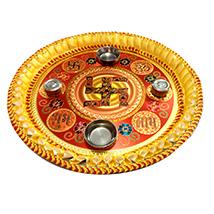 Auspicious & Decorative Puja Thali