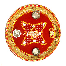 Beautiful Red Puja Thali
