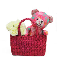 Cute Teddy & Basket