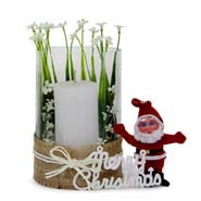 Candle Holder N Santa
