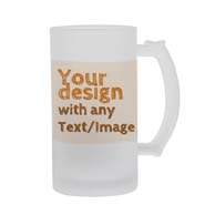 Personalized Frosted Beer Mug