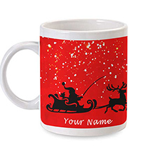 Personalized Christmas Red Mug