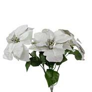 Glitter Poinsettia Flowers
