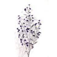 Artificial Glitter Flower Stick