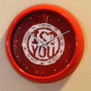 Round Red Clock