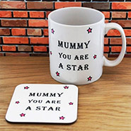 Personalised Mug & Coaster Set - Mummy Star