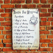 Happiness Quote Wall Hanging