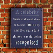 Celebrity Quote Wall Hanging
