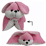 Pink Teddy Pillow