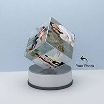 Alluring Personalized Crystal Cube