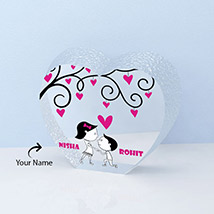 Heart Shape Crystal Personalized with Two Names