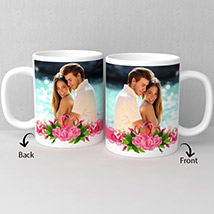 White Photo Personalized Coffee Mug