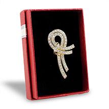 Stone Embellished Golden Brooch