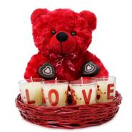 Teddy Love Basket