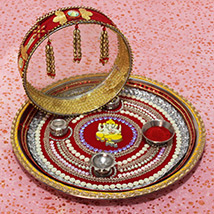 Designer Thali for Karwa Chauth