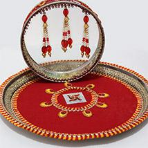 Red Karwa Chauth Thali Combo