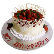 1kg Strawberry Cake Eggless