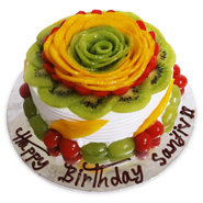 1kg Flower Shape Fruit Cake Eggless