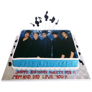 1kg Photo Cake Eggless