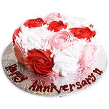 1kg Rose Cake Eggless