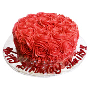 1kg Rose Cake Eggless Red