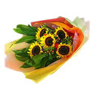 5 Sunflowers Bouquet-MAL