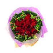 12 Red Roses Bouquet-MAL