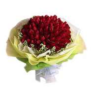 Bouquet of 100s Red Roses-MAL