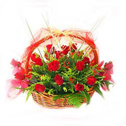Basket of 24s Red Roses-MAL