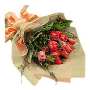 Bouquet of 12s Pink Roses-MAL