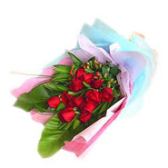 Bouquet of 12s Red Roses-MAL