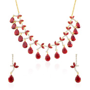Oviya Golden Expression Necklace Set