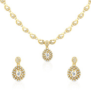 Oviya Evening Blush Necklace Set